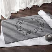五星級酒店地巾棉質浴室防滑墊衛浴門口吸水腳墊家用地毯可機洗75*45公分