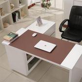 皮質紋辦公桌墊 超大滑鼠墊書辦公室電腦桌墊 手寫板老板墊WY 開學季特惠