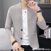 針織開衫男薄款秋季新款韓版潮流修身毛線衣外套紐扣毛衣外穿 雙十二全館免運