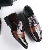 正裝皮鞋 商務男鞋子 新款皮鞋男士休閒鞋商務正裝辦公鞋子男大碼鞋男皮鞋《印象精品》q491