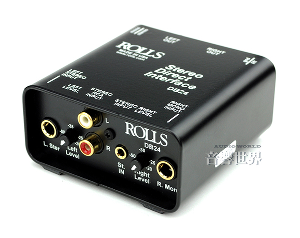 【音響世界】美國ROLLS DB-24 被動可調式立體訊號DI Box - 阻抗轉換器》Made in USA