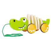 【美國代購 特價新品】德國Hape愛傑卡 鱷魚拉車 新年禮物 聖誕禮物 兒童節禮物