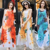 沙灘洋裝 泰國連身裙女巴厘島三亞海邊度假沙灘裙2020新款超仙波西米亞長裙 小宅女