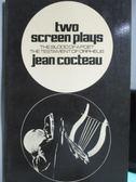 【書寶二手書T3/原文小說_OAF】two screen plays_Jean Cocteau