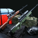 AWM水彈槍巴雷特絕地吃雞模型求生98k...