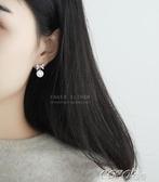耳環韓國氣質蝴蝶結925純銀針珍珠耳釘耳環女簡約清新優雅防過敏耳飾春季特賣