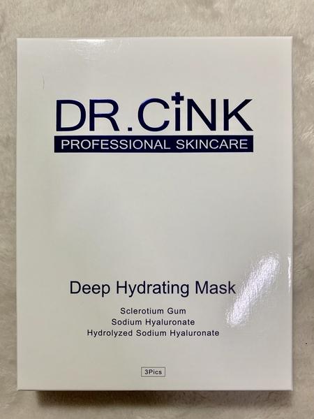 【DR.CINK 達特聖克】水微晶長效鎖水面膜 3片入 效期2021.11【淨妍美肌】