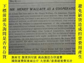 二手書博民逛書店The罕見chinese cooperator 1944 vol