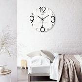 【優選】現代簡約時尚田園木質客廳臥室靜音掛鐘