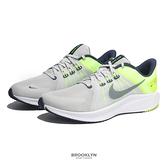 NIKE 慢跑鞋 QUEST 4 灰螢光綠 基本款慢跑系列 男 (布魯克林) DA1105-003
