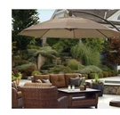 [COSCO代購] W1031593 11 呎 庭院懸臂式咖啡色遮陽傘