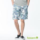 bossini男裝-印花卡其短褲01灰白