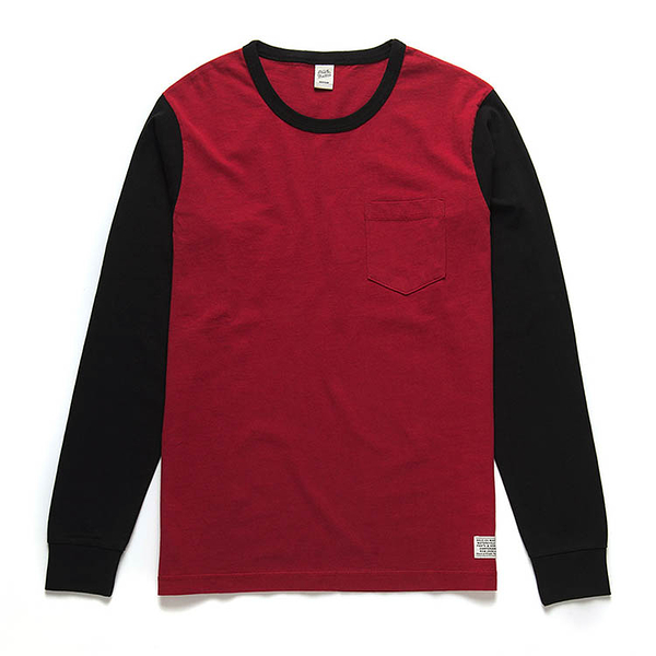 Deus Ex Machina Stevie Contrast Tee 長袖T恤 | 騎士衝浪品牌 -(紅)五折