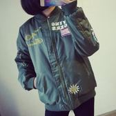 空軍外套-刺繡徽章棒球服直筒男女MA1夾克(單件)72av13[巴黎精品]