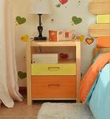 床頭櫃 床頭櫃實木簡約現代臥室床邊櫃小迷妳收納櫃多功能儲物櫃 igo 綠光森林
