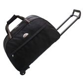 拉桿背包雙肩旅行包女純色耐磨大容量帶輪子可登機箱包行李袋