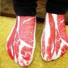 熱銷款 五花肉 梅花肉片 襪子 短襪 創意惡搞趣味 整人 驚喜 禮物 短褲墨鏡漁夫帽 【RS363】