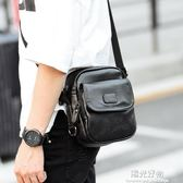 斜背包新款男士小背包潮流便攜帶單肩斜跨包街頭休閒手機包包潮包 陽光好物
