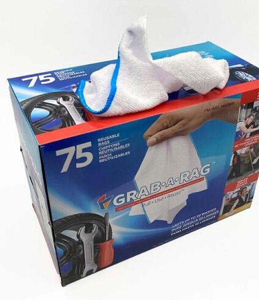 [COSCO代購] W1433889 GRAB-A-RAG 拋棄式超細纖維擦拭布 每盒 75 抽