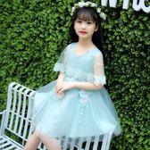 女童披肩連衣裙 2018夏裝新款韓版時尚兒童公主裙子禮服蓬蓬紗裙