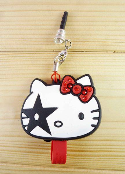 【震撼精品百貨】Hello Kitty 凱蒂貓~KITTY耳機防塵塞-龐克