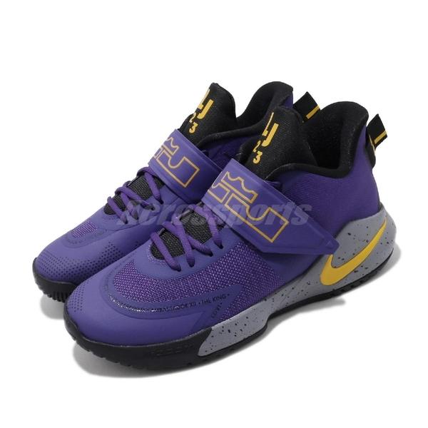Nike 籃球鞋 Ambassador XII 紫 黃 男鞋 運動鞋 湖人隊配色 【ACS】 BQ5436-500