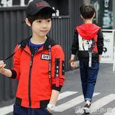 韓版春款中大童女童印花貼布夾克童外套潮 微商代理 優家小鋪