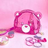 側背包新款彩虹熊少女心透明化妝包PVC收納袋日繫卡通可愛萌軟妹手拿包 育心館