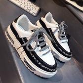 韓版學生運動鞋 休閒時尚板鞋平底鞋子【多多鞋包店】z4045