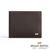 【BRAUN BUFFEL】德國小金牛HOMME-M系列極光紋5卡透明窗皮夾(咖啡)BF306-316-ENY