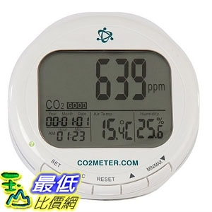儀錶 CO2Meter AZ-0004 Indoor Air Quality CO2 Meter, Temperature and Relative Humidity, White