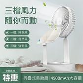 台灣現貨 USB多功能風扇折疊小風扇學生宿舍桌面化妝鏡落地便攜迷你小風扇