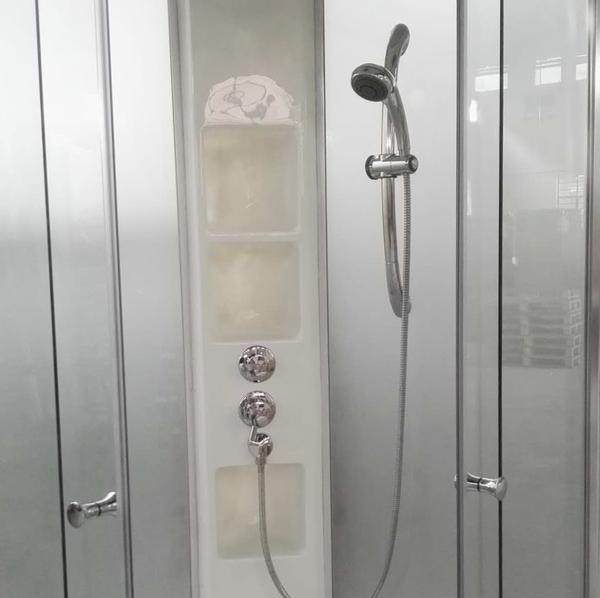 【麗室衛浴】小木屋.民宿最愛 E-304-1 直角型整體淋浴室不含上蓋 90*90*215CM