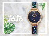 【時間道】NATURALLY JOJO  時尚典雅晶鑽腕錶 / 藍貝殼面彩鑽板帶(JO96942-55R)免運費
