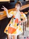 熱賣兒童洋裝 女童連身裙夏裝2021新款兒童洋氣短袖小女孩韓版夏季網紅公主裙子 coco