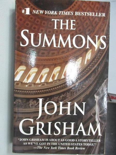 【書寶二手書T1/原文小說_MNE】The Summons_John Grisham
