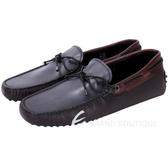 TOD'S Gommino 撞色編織綁帶豆豆休閒鞋(男鞋) 1540693-62