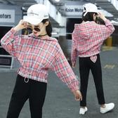 童裝女童春款套裝新品中大童洋氣時髦網紅春裝兒童運動兩件套