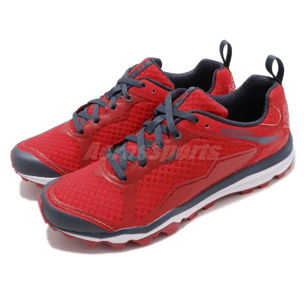 Merrell 戶外鞋 All Out Crush Light 紅 灰 越野 慢跑 透氣 運動鞋 男鞋【PUMP306】 ML35549
