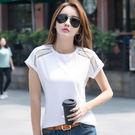 【GZ32】個性鏤空素面百搭圓領棉質短袖上衣 短袖T恤