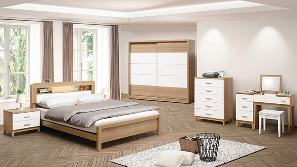 【森可家居】金詩涵2.7尺五斗櫃 10ZX134-2白色 五抽屜 木紋質感 無印風 北歐風 MIT