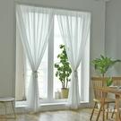 窗紗紗簾免打孔出租房簡易白色窗紗臥室飄窗隔斷魔術貼粘貼窗沙簾