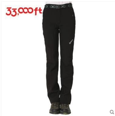 戶外女軟殼褲保暖防水彈力修身BS14421『時尚玩家』