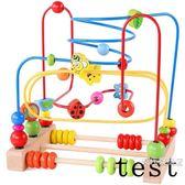 繞珠玩具6一12個月寶寶益智男孩女1-2-3周歲嬰兒大號兒童串珠玩具一件免運