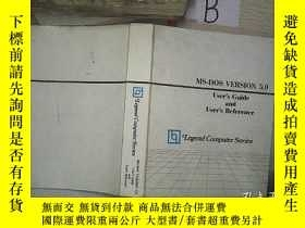 二手書博民逛書店MS-DOS罕見VERSION 5.0 Legend Computer Series MS-DOS 5.0版Leg