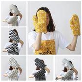 日式棉麻加厚隔熱手套耐高溫/米蘭世家