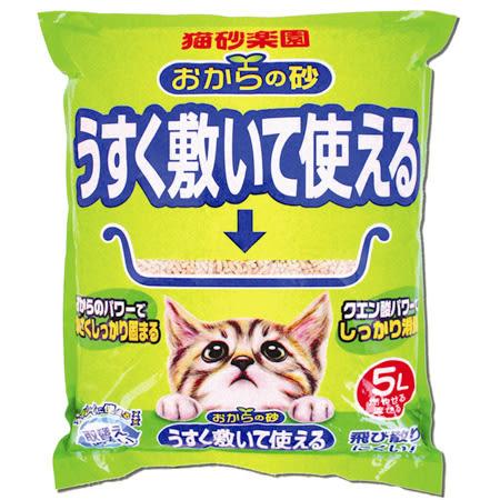 *~寵物FUN城市~*寬達立KDL 貓砂樂園-超省環保無塵豆腐貓砂5L【單包】日本大塚