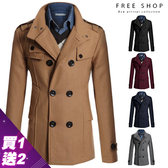 [現貨] 英倫風修身版型雙排扣毛呢大衣外套 skinny顯瘦slim fit設計【QZZZ7272】