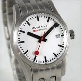 【萬年鐘錶】MONDAINE 瑞士國鐵 27mm鋼錶XM-62916M