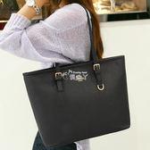 新款歐美購物袋大包簡約托特包百搭手提包單肩包女包潮 俏腳丫